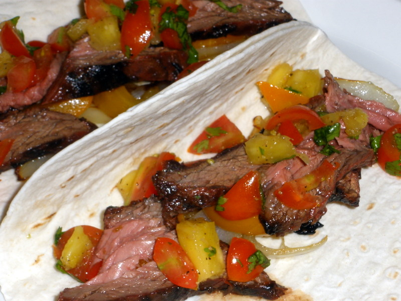 Grilled sirloin flap steak | Bouillie