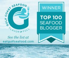 eat gulf seafood top 100 bloggers logo