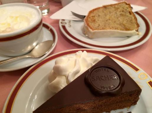 the Original Sacher Torte, at the Hotel Sacher in Salzburg
